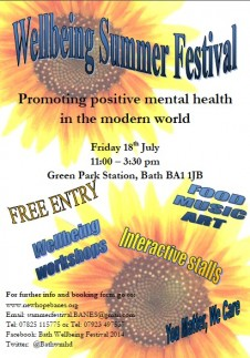 Come along to the Wellbeing Festival this Friday