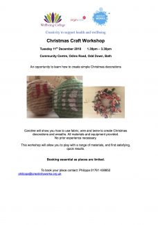 Christmas Craft Workshop