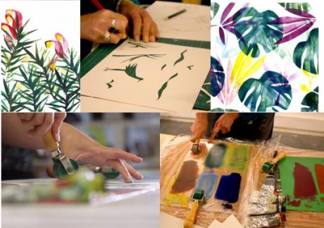 Print making for Christmas Workshops