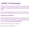 COVID -19 Statement